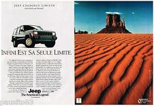 PUBLICITE ADVERTISING 0105  1991  JEEP AMERICAN LEGEND  (2p) CHEROKEE LIMITED
