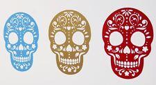 Día de los muertos Caramelo de azúcar Calaveras Halloween Pegatinas de Pared Calcomanía Varios Colores