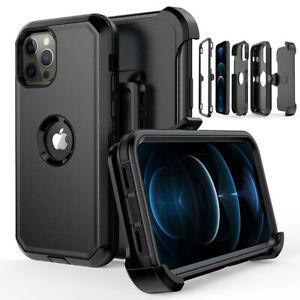 For iPhone 12 Pro 13 Pro 12 13 Pro Max Shockproof Defender Case Cover+Belt Clip