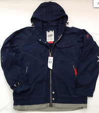 Mens Timberland Light Hoodie Jacket In Navy S Chest 46""