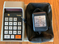 Texas Instruments Ti 2510 Vintage Calculator With Original Case And Power Supply