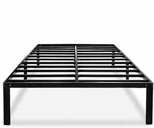 Black Queen Bed Frame Metal No Box Spring Needed 14 Platform Heavy Duty Bed Fram