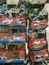 Star wars  hot wheels 9 die-cast  star wars cars includes BB-8 and rey cars