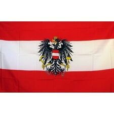 Austria Country Flag Banner Sign 3' x 5' Foot Polyester Grommets Eagle