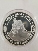 1 oz .999 silver Apollo 11 moon landing Neil Armstrong JFK NASA Kennedy 50th YR