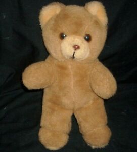 "11"" VINTAGE MARY MEYER BROWN BABY TEDDY BEAR STUFFED ANIMAL PLUSH TOY LOVEY TAN"