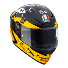 AGV K1 Isle Of Man TT Guy Martin Replica Motorcycle Helmet - Yellow Black