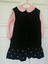 Vintage Girls 2 piece Fall Dress Cinderella brand Size 6x USA made