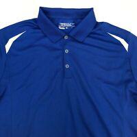 Nike Golf Performance Polo Shirt Men's Large Short Sleeve Navy 100% Polyester
