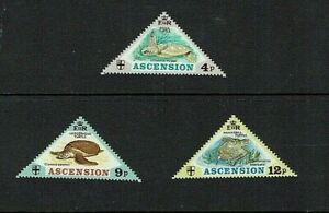 Ascension Island: 1973, Turtles, MNH set