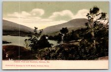 Hosmer Pond and Mountain in Camden, Maine Knox County Undivided Back Postcard