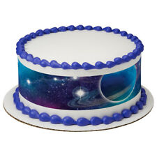 Outer Space Galaxy Edible Cake Border Decoration - Set of 3 Strips
