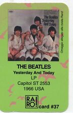 BEATLES RARO CARD N. 37 made in ITALY Yesterday and today