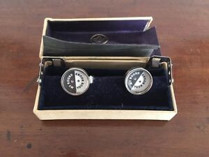 Great Vintage Set If Sackville & Jones Cufflings - Your Round/My Round