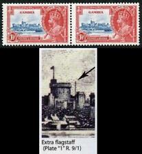 Gambia 1935 Silver Jubilee 1 1/2d Extra Flagstaff Superb m/m in Pair SG143a