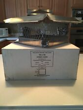 Stainless Steel 13� x 13� Hy-C Co Chimney Cap Draft King