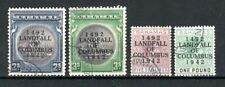 More details for bahamas 1942 columbus opt values 2s to £1 + shades and ordinary  paper fu cds