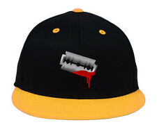 RAZOR, Sharp Barber's Blade With A LITTLE Blood on it, Embroidered Snapback