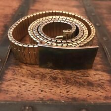 Rare Marc Jacobs Golden Stretchy Metal Belt