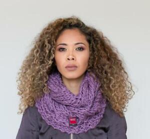 Damenschal Winterschal Wollschal Halswärmer Zopfmuster Loop 100% Wolle Farben