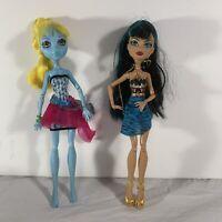 Monster High 13 Wishes Cleo De Nile Lagoona Blue Dolls Mattel Lot Of 2