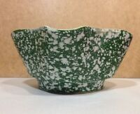 Vintage Shawnee Pottery Mint Green Spatterware Planter Pot 4001 USA