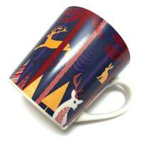 Starbucks Christmas Coffee Mug Cup 2017 Woodland Creatures Deer Trees 18 oz EUC