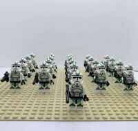 21Pcs Minifigures Star Wars Green Clone Trooper 501st  Army Trooper Lego MOC Toy