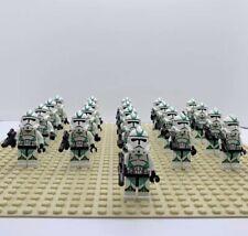 21Pcs Minifigures Star Wars Green Clone Trooper 501st  Army Trooper Lego MOC Toy