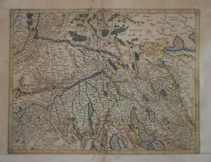 SWITZERLAND - ZURICH AREA FOR THE MERCATOR HONDIUS ATLAS CIRCA 1630.