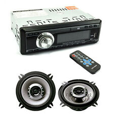 AUTORADIO FM STEREO AUTO LETTORE MP3 USB SD CON COPPIA DI CASSE 300 WATT 13 CM