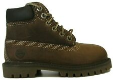 "Kids Childrens Boys Brown Leather Timberland 6"" 6 Inch Boots Shoes Size 20803"