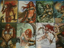 RED SONJA  Complete Base Set of 72 Fantasy Art Trading Cards Dynamite Breygent