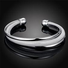 super eleganter Armreif 925 Sterling Silber plattiert Armspange Armband edel
