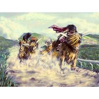 SCOTTISH HIGHLAND COWS A3 POSTER ART PRINT YF509
