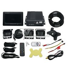 """4CH Car Mobile DVR Recorder with 4 IR Light Vision Camera and Cable 7"""" LCD US"""