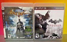 Batman Arkham City + Asylum -  Game Lot PS3 Sony Playstation 3 Tested