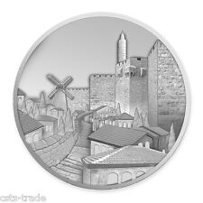 ISRAEL COINS 2016 JERUSALEM MISHKENOT SHANANIM PROOF 1oz PURE SILVER BULLION
