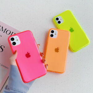Clear Phone Case For iPhone 11 12 Pro Max XS X 8 7 SE2 Shockproof Silicone Cover