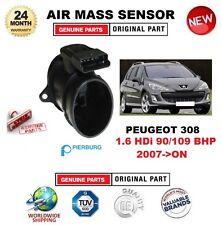 FOR PEUGEOT 308 1.6 HDi 90/109 BHP 2007-> AIR MASS SENSOR PIERBURG 5-PIN HOUSING