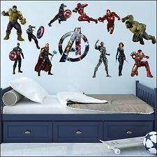 Marvel Avengers Bedroom Full Colour Cut Vinyl Wall Art Sticker Buy 2 get 1 Free