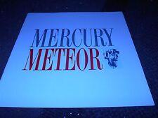 NOS 1962 MERCURY METEOR ORIGINAL DEALER SALES BROCHURE - UNCIRCULATED ORIGINAL!!