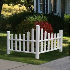 Weather Resistant Scalloped Top Dog Ear Vinyl Corner Spaced Picket Fence Panels