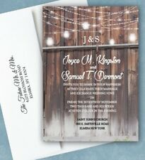 Barn Wedding Invitations Personalized Invites and RSVP Rustic Country Qty 50