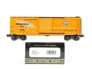 """O Scale 2-Rail K-Line K761-2171 WP Western Pacific """"Feather"""" Box Car #1953"""