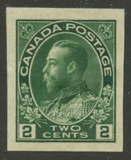 Canada 1924 KGV Admiral 2c green Imperf #137 VF mhr