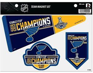 St Louis Blues 2019 Champions Multi Die Cut Magnet Sheet Auto Home Hockey