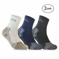 Sports Running Socks Coolmax Cushioned Crew Mens/Womens (3 Pair Sport Pack)