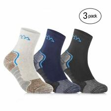 Sports Running Socks Coolmax Cushioned Crew Mens/Womens (3 Pair Sport Pack)