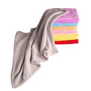 50X70cm Small Solid Soft Bedding Home Sofa Fleece Blanket Throw Rug Flannel